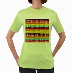 Art Background Abstract Women s Green T Shirt