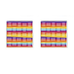 Art Background Abstract Cufflinks (square)