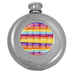 Art Background Abstract Round Hip Flask (5 Oz)