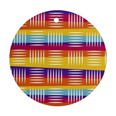 Art Background Abstract Round Ornament (two Sides)