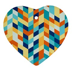 Geometric Retro Wallpaper Ornament (heart)