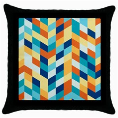 Geometric Retro Wallpaper Throw Pillow Case (black)