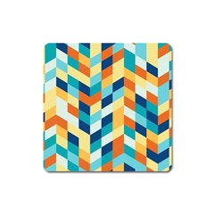 Geometric Retro Wallpaper Square Magnet