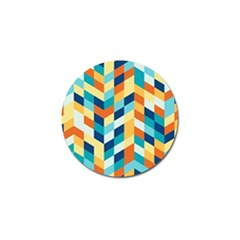 Geometric Retro Wallpaper Golf Ball Marker