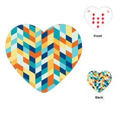 Geometric Retro Wallpaper Playing Cards (heart)