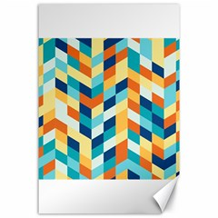Geometric Retro Wallpaper Canvas 24  X 36