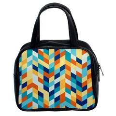 Geometric Retro Wallpaper Classic Handbags (2 Sides)