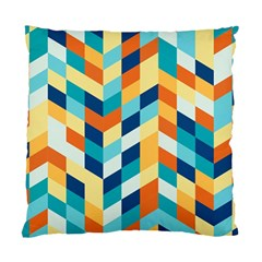 Geometric Retro Wallpaper Standard Cushion Case (two Sides)
