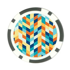 Geometric Retro Wallpaper Poker Chip Card Guard (10 Pack)