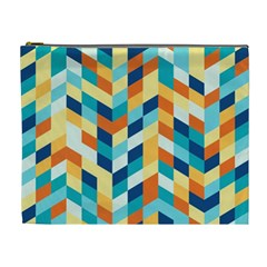 Geometric Retro Wallpaper Cosmetic Bag (xl)