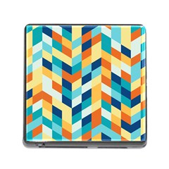Geometric Retro Wallpaper Memory Card Reader (square)
