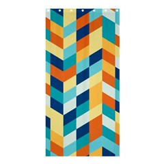 Geometric Retro Wallpaper Shower Curtain 36  X 72  (stall)