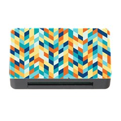 Geometric Retro Wallpaper Memory Card Reader With Cf