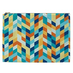 Geometric Retro Wallpaper Cosmetic Bag (xxl)