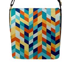 Geometric Retro Wallpaper Flap Messenger Bag (l)