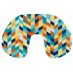 Geometric Retro Wallpaper Travel Neck Pillows by Nexatart
