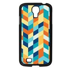 Geometric Retro Wallpaper Samsung Galaxy S4 I9500/ I9505 Case (black)