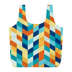 Geometric Retro Wallpaper Full Print Recycle Bags (l)