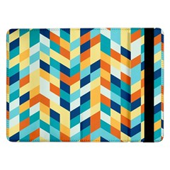 Geometric Retro Wallpaper Samsung Galaxy Tab Pro 12 2  Flip Case