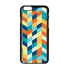 Geometric Retro Wallpaper Apple Iphone 6/6s Black Enamel Case