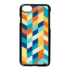 Geometric Retro Wallpaper Apple Iphone 8 Seamless Case (black)