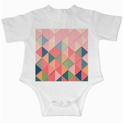 Background Geometric Triangle Infant Creepers