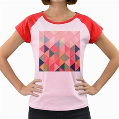 Background Geometric Triangle Women s Cap Sleeve T Shirt