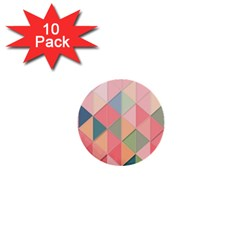 Background Geometric Triangle 1  Mini Buttons (10 Pack)