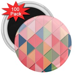 Background Geometric Triangle 3  Magnets (100 Pack)