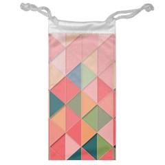 Background Geometric Triangle Jewelry Bag