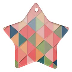Background Geometric Triangle Star Ornament (two Sides)
