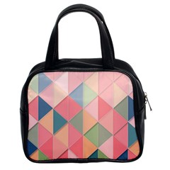 Background Geometric Triangle Classic Handbags (2 Sides)
