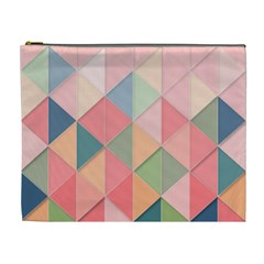 Background Geometric Triangle Cosmetic Bag (xl)