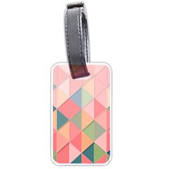 Background Geometric Triangle Luggage Tags (one Side)