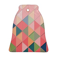 Background Geometric Triangle Bell Ornament (two Sides) by Nexatart