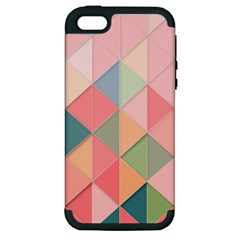 Background Geometric Triangle Apple Iphone 5 Hardshell Case (pc+silicone)