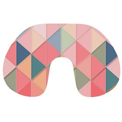 Background Geometric Triangle Travel Neck Pillows by Nexatart