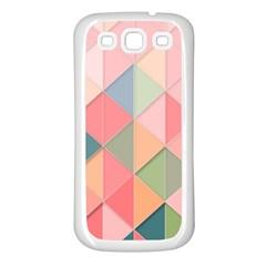 Background Geometric Triangle Samsung Galaxy S3 Back Case (white)