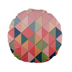 Background Geometric Triangle Standard 15  Premium Flano Round Cushions