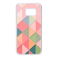 Background Geometric Triangle Samsung Galaxy S7 White Seamless Case