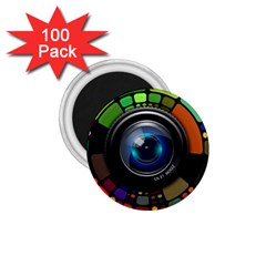 Lens Photography Colorful Desktop 1 75  Magnets (100 Pack)