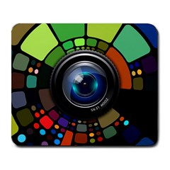 Lens Photography Colorful Desktop Large Mousepads by Nexatart