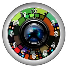 Lens Photography Colorful Desktop Wall Clocks (silver)