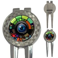 Lens Photography Colorful Desktop 3 In 1 Golf Divots