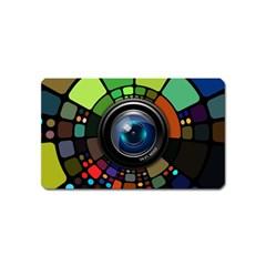 Lens Photography Colorful Desktop Magnet (name Card)