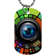 Lens Photography Colorful Desktop Dog Tag (one Side)