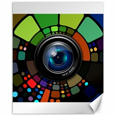 Lens Photography Colorful Desktop Canvas 11  X 14