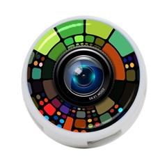 Lens Photography Colorful Desktop 4 Port Usb Hub (one Side)