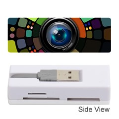 Lens Photography Colorful Desktop Memory Card Reader (stick)  by Nexatart