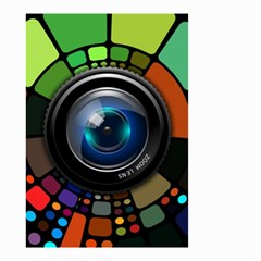 Lens Photography Colorful Desktop Small Garden Flag (two Sides)
